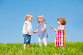 Three toddler girls — Stock Photo