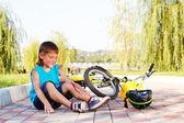 Caído de la bicicleta — Foto de Stock