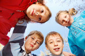 Kids embracing — Stock Photo