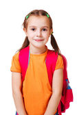 Girl in orange t-shirt — Stock Photo