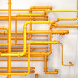 Pipes background — Stock Photo