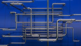 Pipes background — 图库照片