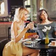 Stock Photo: Two women at a cafe