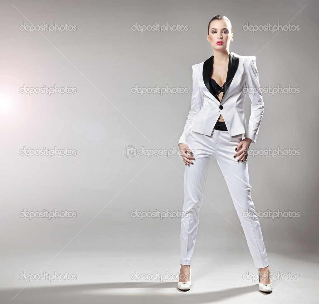 Young fashionable lady posing — Stock Photo #10682697