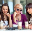 Three beautiful young friends — Stock Photo