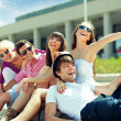 Group of cheerful friends — Stock Photo