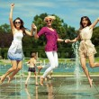 Stock Photo: Three women enjoying summer day