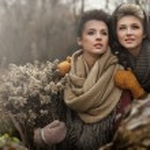 Fine art photo of a two beautiful women — Stock Photo