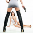 Violence scene - two sexy ladies — Stock Photo #8562820