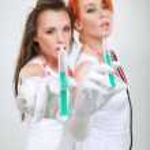 Couple of sexy nurses — Stock Photo