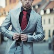 Young elegant businessman — Stock Photo