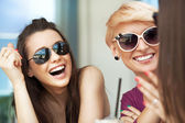 Smiling women — Stock Photo