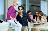 Group of friends on summer day — Stock Photo