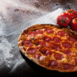 Tasty Italian pepperoni pizza - Stock Photo