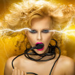 Electric woman - Foto Stock
