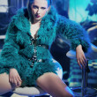 Sexy woman wearing fur - Foto Stock
