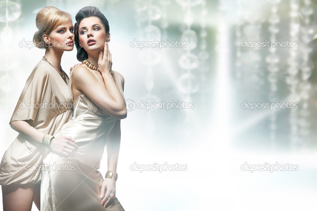 Two sexy women hugging  Stock Photo #9276473