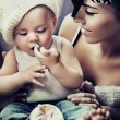 Portrait of a child and mum - Stock fotografie
