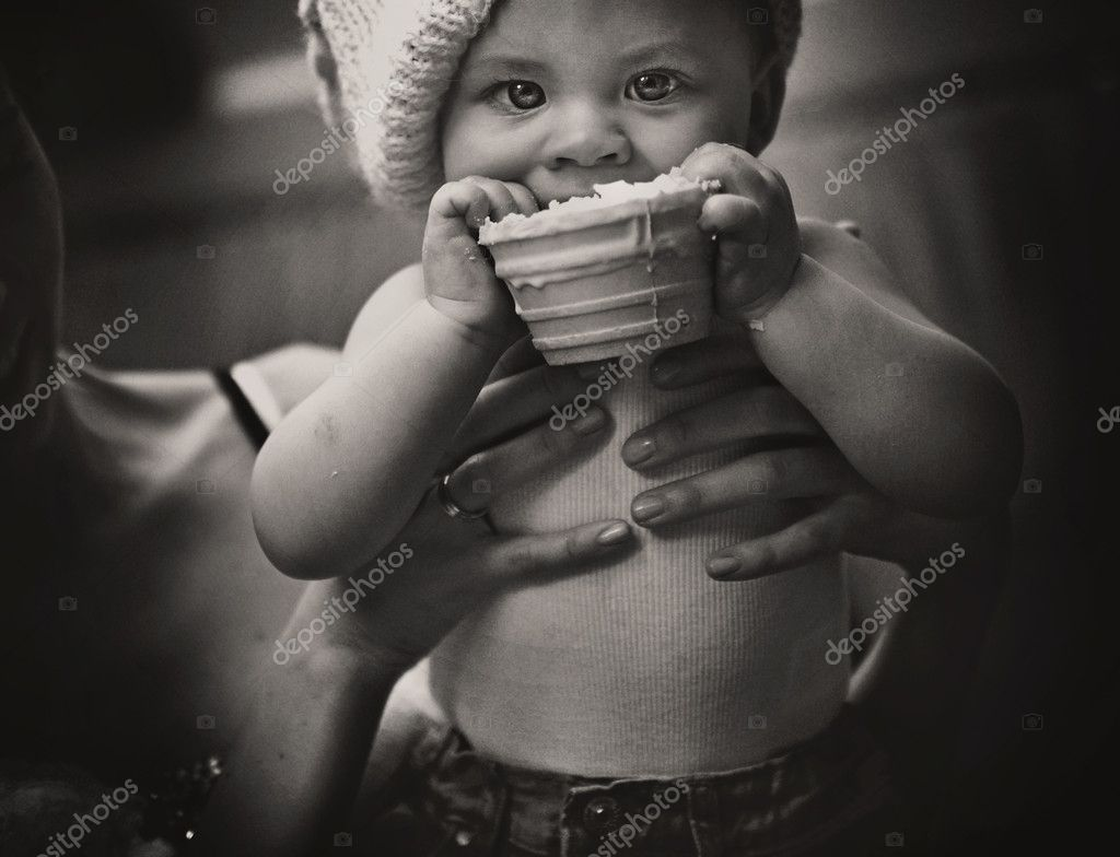 Eating baby  Stock Photo #9894474