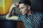 Vogue style portrait of a young guy — Stock Photo