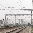 Stock Photo: Railway electrification