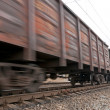 Coal trainload in motion — Stock Photo