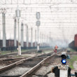 Railway traffic lights — Stockfoto