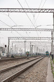 Railway electrification — Stock Photo