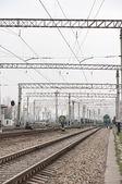 鉄道の帯電 — ストック写真