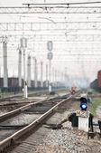 Railway traffic lights — Stock Photo