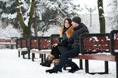 Glückliche Paar — Stockfoto