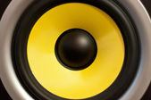 Yellow speaker — Stock Photo