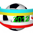 Soccer ball for EURO 2012 — Stock Photo