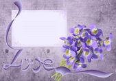 ライラック紫グランジ — ストック写真