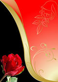 Rot und gold rose — Stockfoto