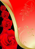 Red and gold rose — Stock Photo