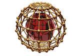 Red ruby inwardly of the lattice — Stock Photo