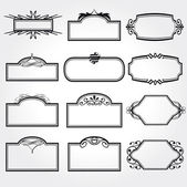 Vector Frame Set ornamental vintage decoration — Vector de stock