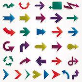 Vektor-pfeile-set-papier — Stockvektor