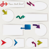 Vector arrows set paper — Vector de stock