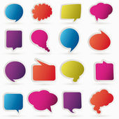 Speech bubbles vector set — Stock Vector