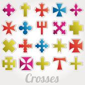 Set Crosses vector — Wektor stockowy