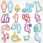 Icon Sign Symbol Pictogram — Stock Vector