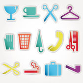 Set vector icons work — Stock Vector