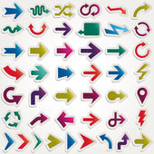 Vector arrows set paper — Stock Vector