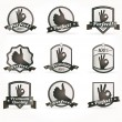 Royalty-Free Stock Vector Image: Set of vintage retro premium quality badges and labels