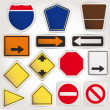 Vector. Blank road signs — Stock Vector