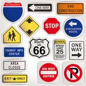 Vector. Blank road signs — Stock Vector