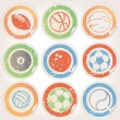 Set of Sports Ball Stickers — Stock Vector #9159968