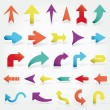 Vector arrows set — Stock Vector #9261216